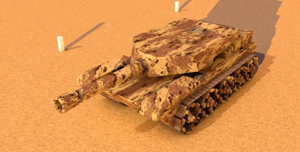 3DOcean Low Poly Tank 20478227