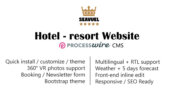 SeaVuel | Multilingual - Hotel website with CMS | Bootstrap theme - CodeCanyon Item for Sale