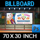 Back To School Billboard Template - GraphicRiver Item for Sale