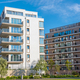 Modern white and brown apartment houses - PhotoDune Item for Sale