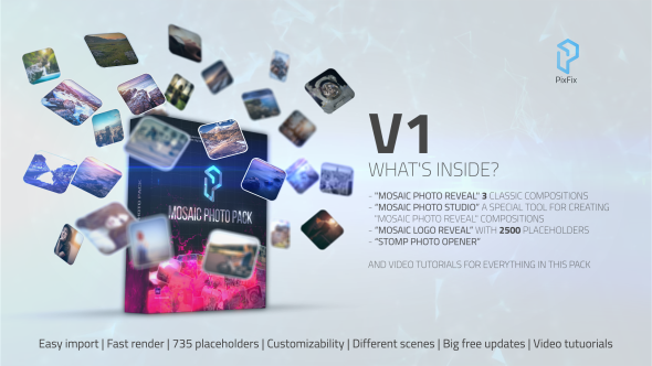 VideoHive Mosaic Photo Pack 20440011
