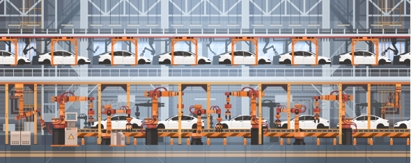 GraphicRiver Car Production Conveyor Automatic Assembly Line 20488974