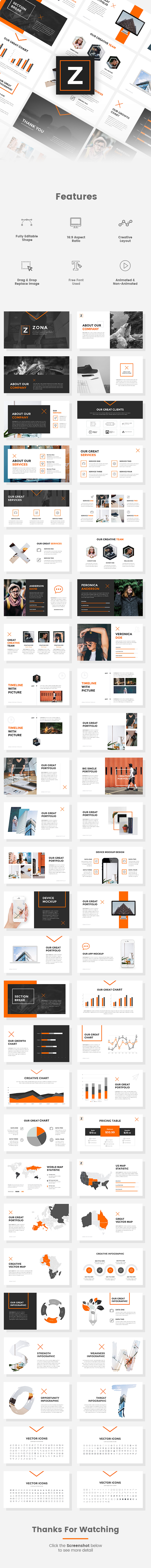 Zona - Creative PowerPoint Template - Creative PowerPoint Templates