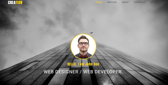 Creation - Personal Portfolio HTML Template