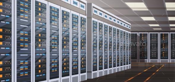 Data Center Room Hosting Server Computer - Computers Technology