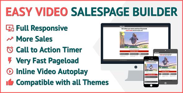 CodeCanyon Easy Video Salespage Builder 20489140