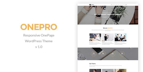 OnePro - Responsive Onepage WordPress Theme - Creative WordPress