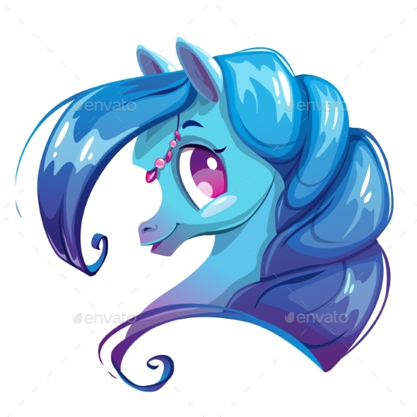 GraphicRiver Cartoon Horse Face 20489243