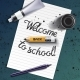Welcome Back to School Hand Drawn Lettering