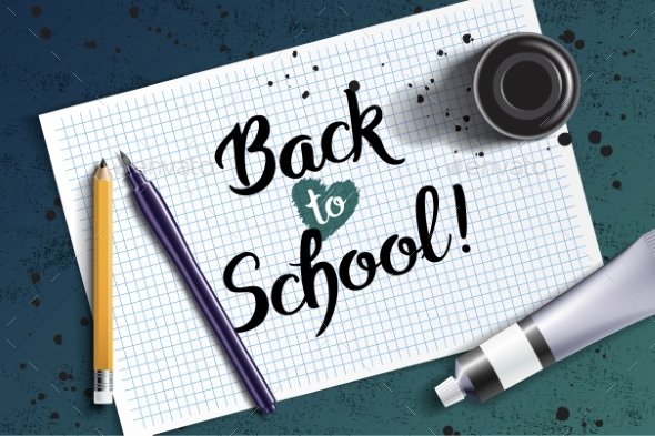 Welcome Back To School Handdrawn Lettering - Miscellaneous Vectors