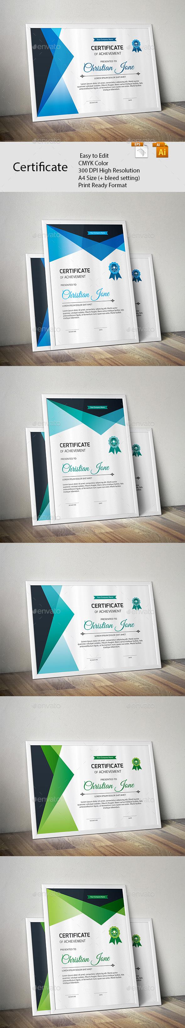 GraphicRiver Certificate 20479407