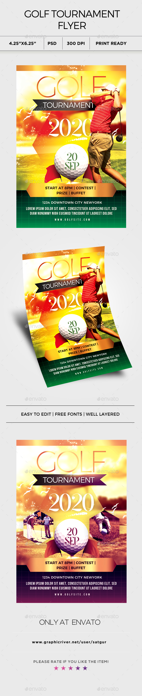Golf Flyer Vol1 - Sports Events