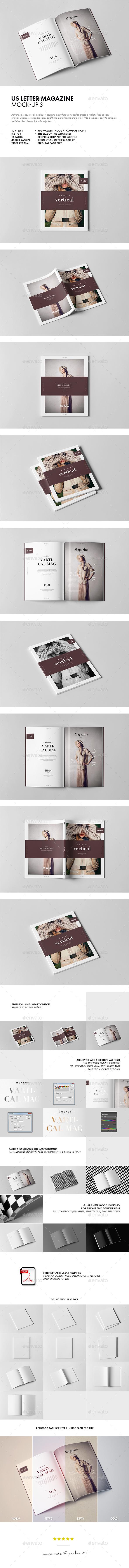 GraphicRiver US Letter Magazine Mock-up 3 20489501