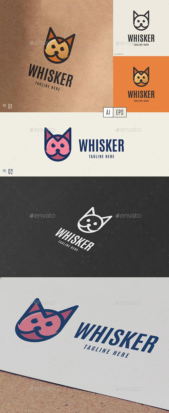 Whisker Logo - Animals Logo Templates