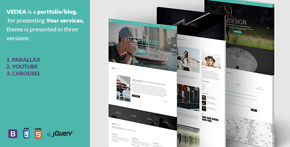 VEDEA - Responsive HTML Template For Portfolio/Blog - Personal Site Templates