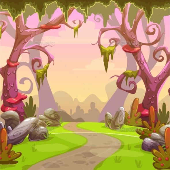 GraphicRiver Fantasy Forest Illustration 20489754