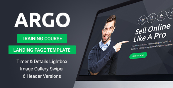 Argo - Training Course Landing Page Template
