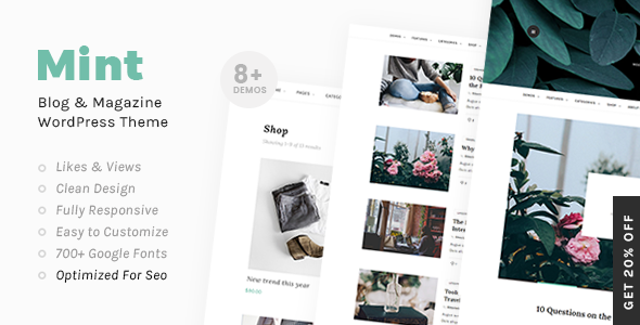 Mint - A Beautiful WordPress Blog and Shop Theme