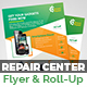 Tech Repair Center Flyer & Roll-Up Banner