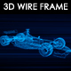 F1 Car 3D Wire Frame