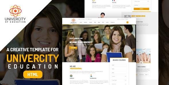 Iqoniq University – Education HTML Templates