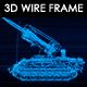 Tank N2 3D Wire Frame