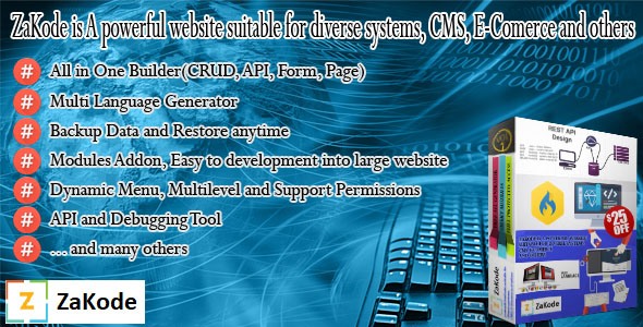CodeCanyon ZaKode All in one builder Powerful website Easier to build 20468331