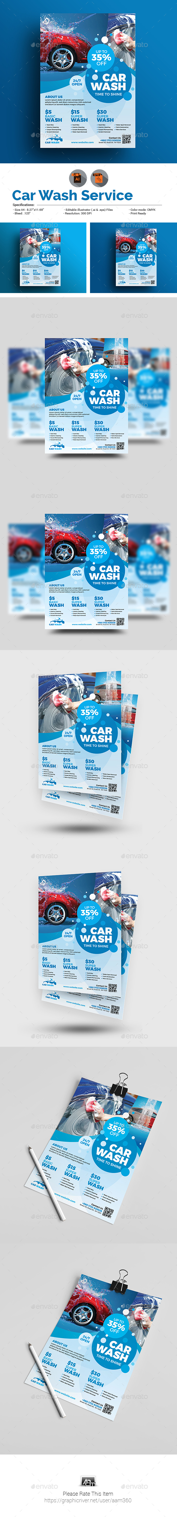 GraphicRiver Car Wash Flyer 20490260