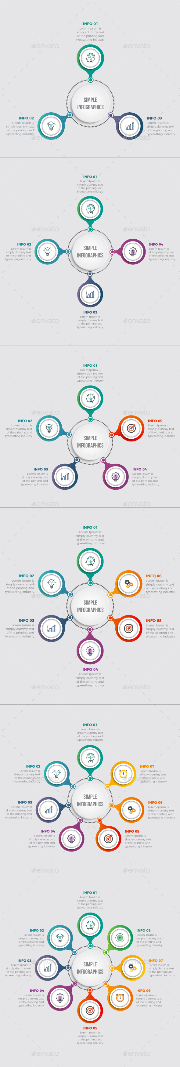 GraphicRiver Simple Modern Circle Infographics 20490342
