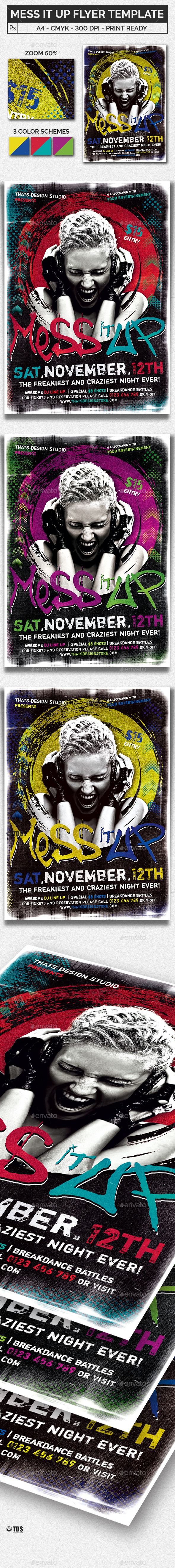 Mess it Up Flyer Template - Clubs & Parties Events