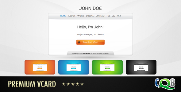 Free Download Premium vCard Nulled Latest Version