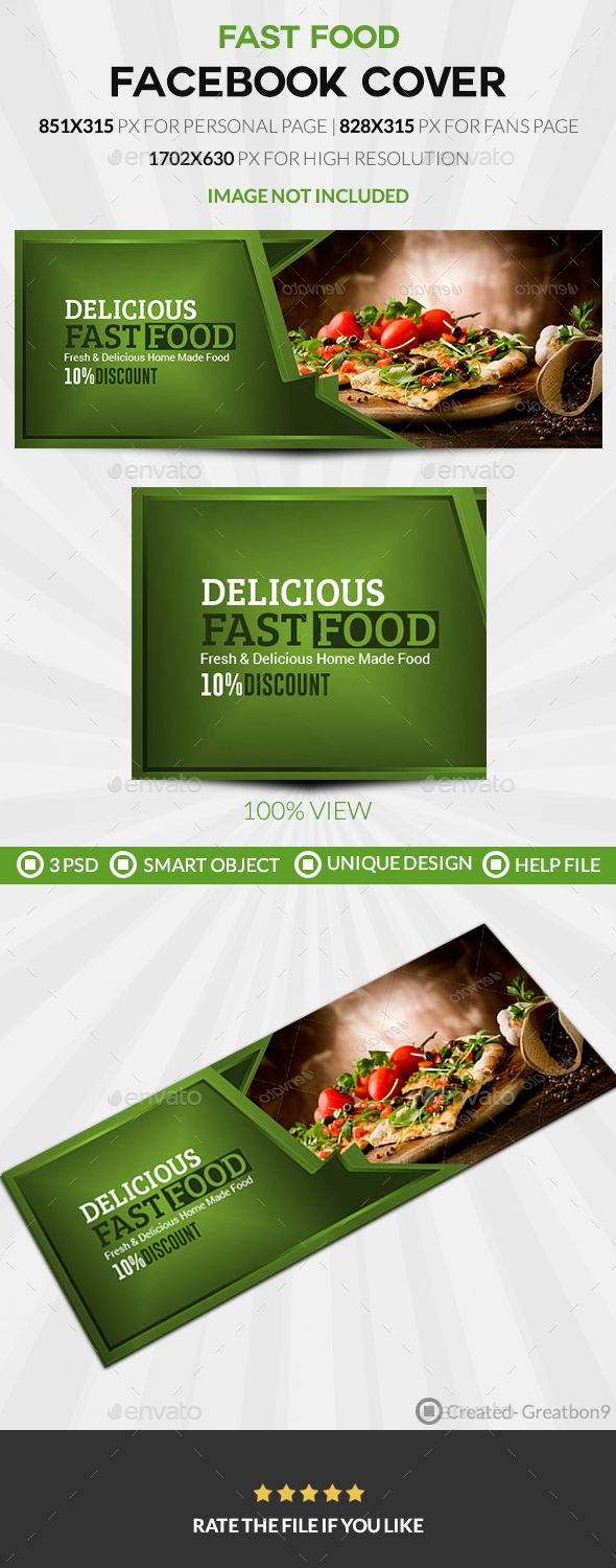 GraphicRiver Food & Restaurant Facebook Cover 20490715