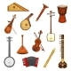 Classic and Ethnic Music Instrument Icon Set - GraphicRiver Item for Sale
