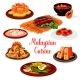 Malaysian Cuisine Restaurant Menu with Asian Food