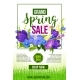 Spring Holiday Sale Vector Flowers Poster Template - GraphicRiver Item for Sale