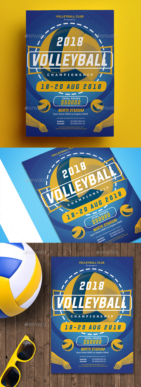 Volleyball Championship Flyer - Sports Events