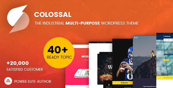 Colossal - Industrial multi-purpose WordPress Theme - Corporate WordPress