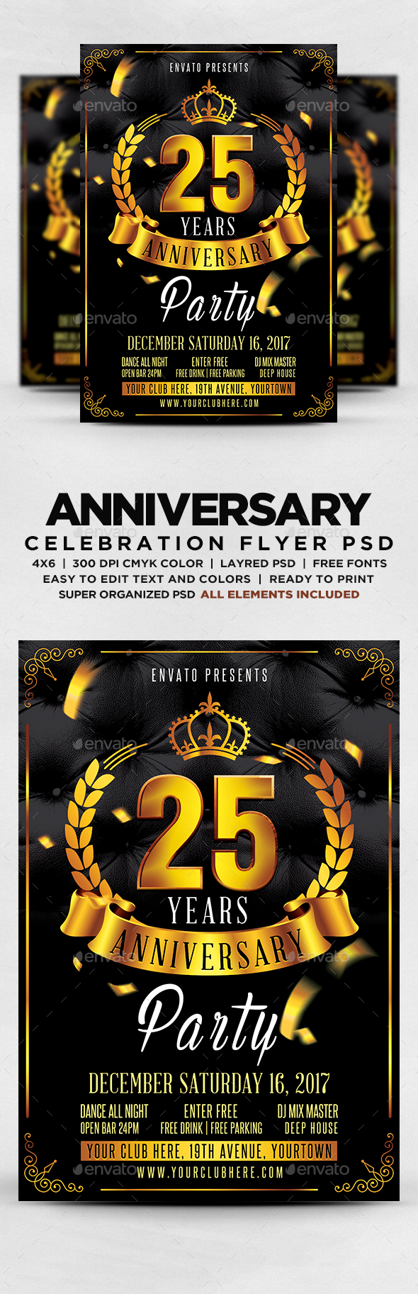 GraphicRiver Anniversary Party Flyer 20491106