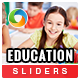 Education Sliders - 3 Designs - GraphicRiver Item for Sale