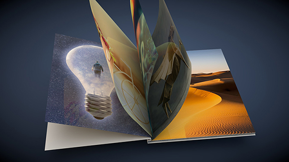flipping book 3d animation - 3DOcean Item for Sale