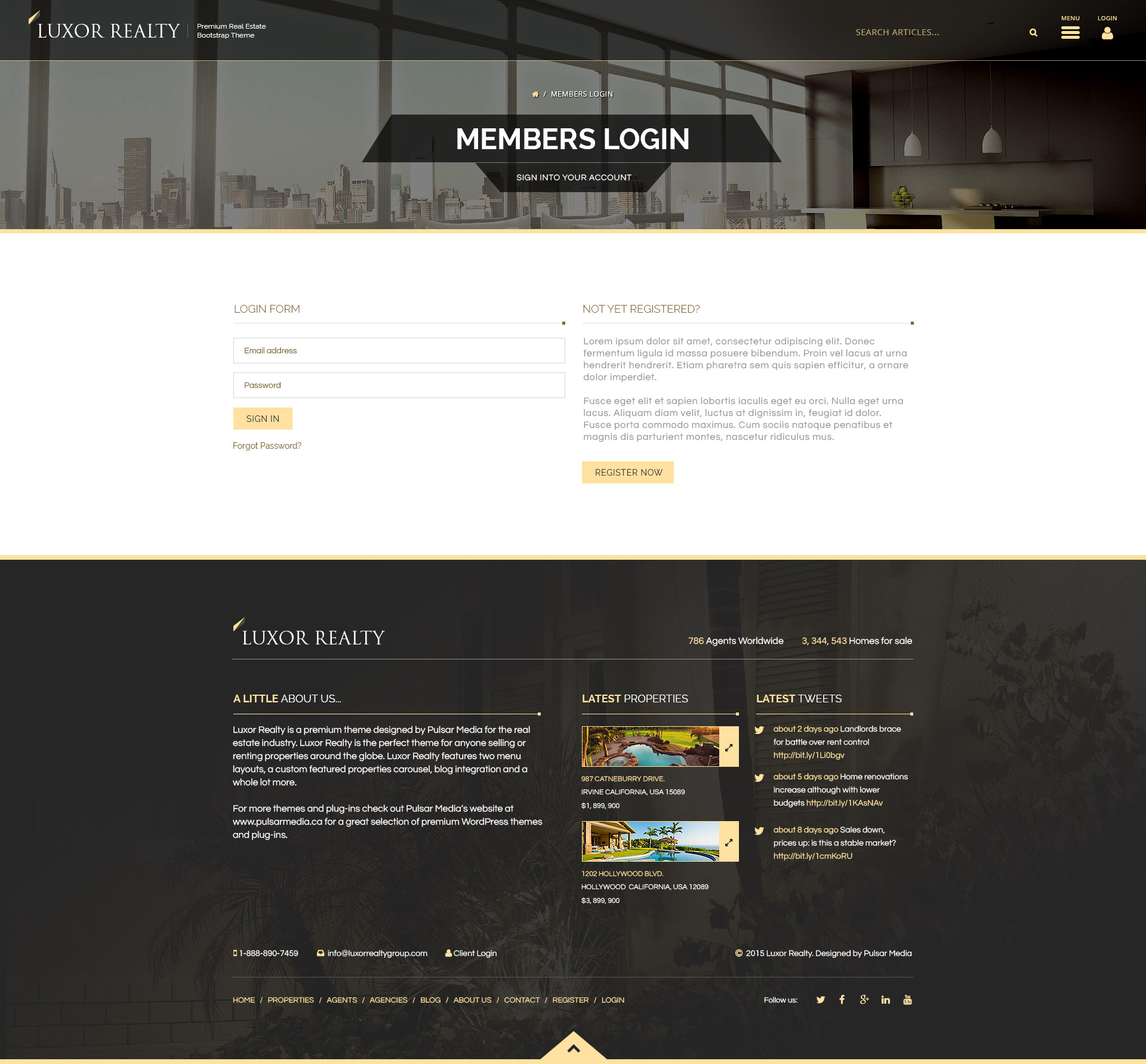 Luxor Realty - Responsive HTML5 Real Estate Template by Micro_Themes