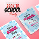 Back to School Party Flyers