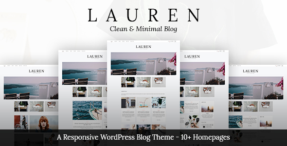 ThemeForest Lauren Clean & Minimal WordPress Blog Theme 20386795