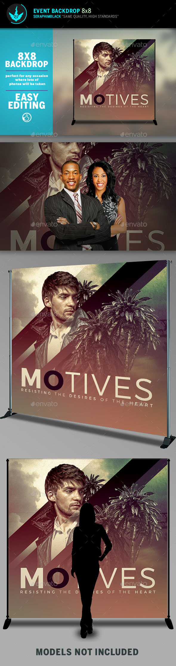 Motives 8x8 Event Backdrop Template - Signage Print Templates