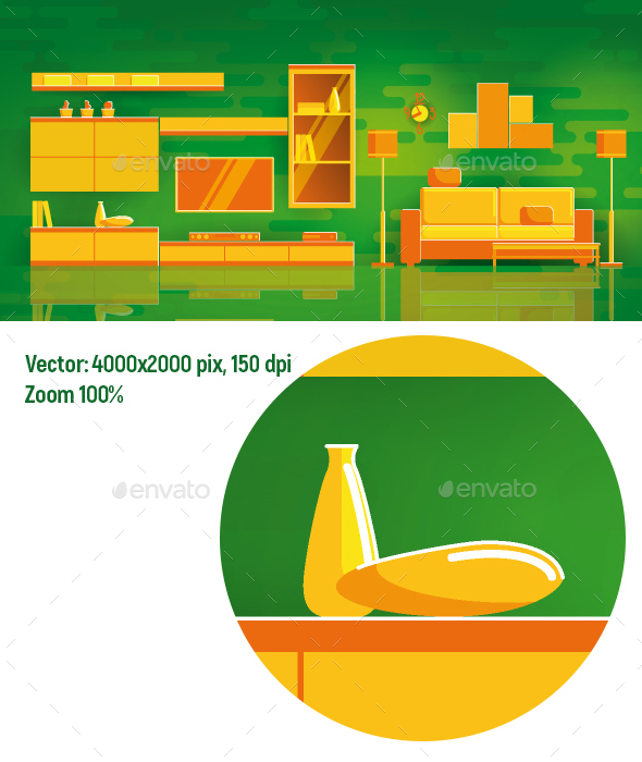 GraphicRiver Living room 20491350