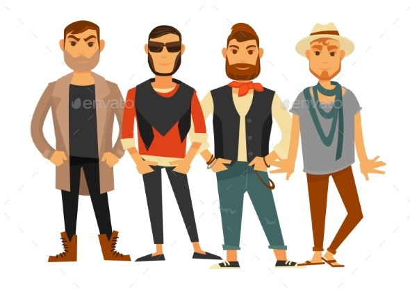 GraphicRiver Men Different Clothes Man Fashion Models Casual 20491429