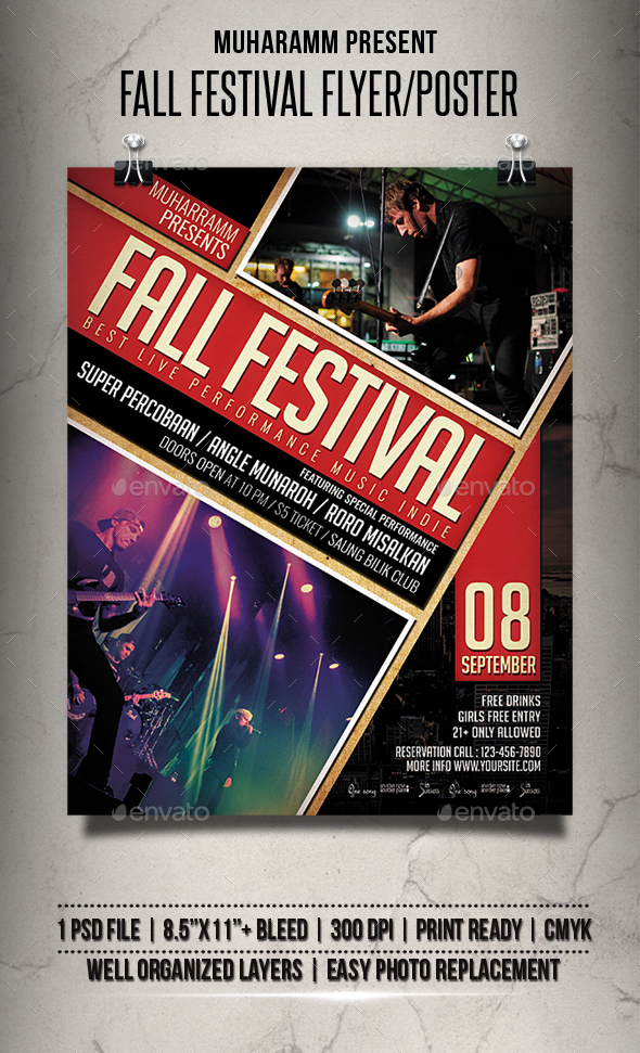 Fall Festival Flyer / Poster - Events Flyers