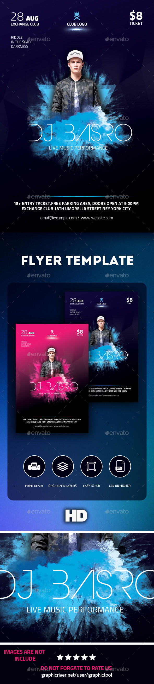 GraphicRiver DJ Flyer 20491492