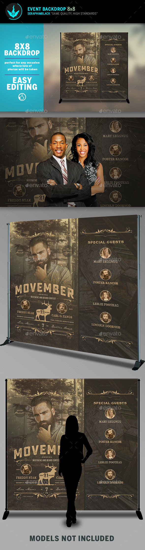GraphicRiver Movember 8x8 Event Backdrop Template 20491502