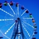 The Night Comes on the Background of a Ferris Wheel - VideoHive Item for Sale